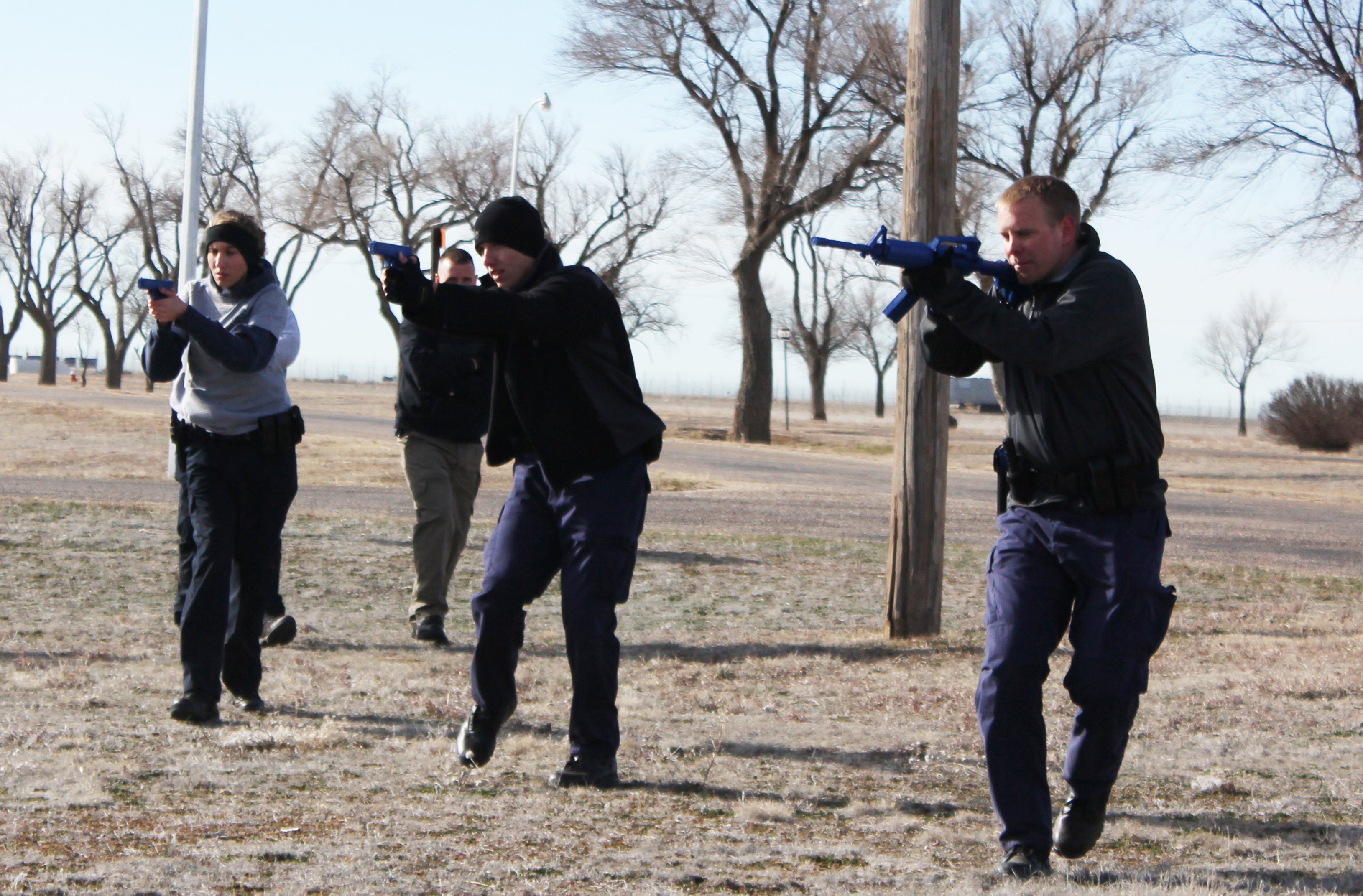 police academy in process of learning vital training procedures.