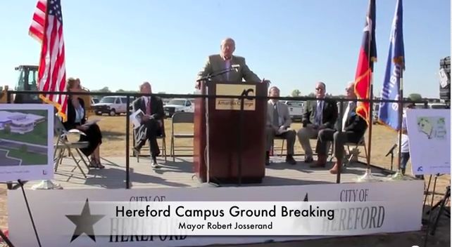 hereford campus groundbreaking ceremony
