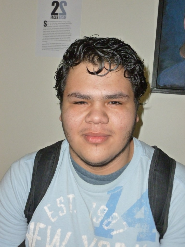 "TOMAS NAJERA engineering major ""I'm going to take Texas government and Calculus 2."""
