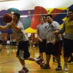 Photo by EDUARDO OLMOS Team Bulls plays Team Free Agents at Carter Fitness Center on the Washington Street Campus.