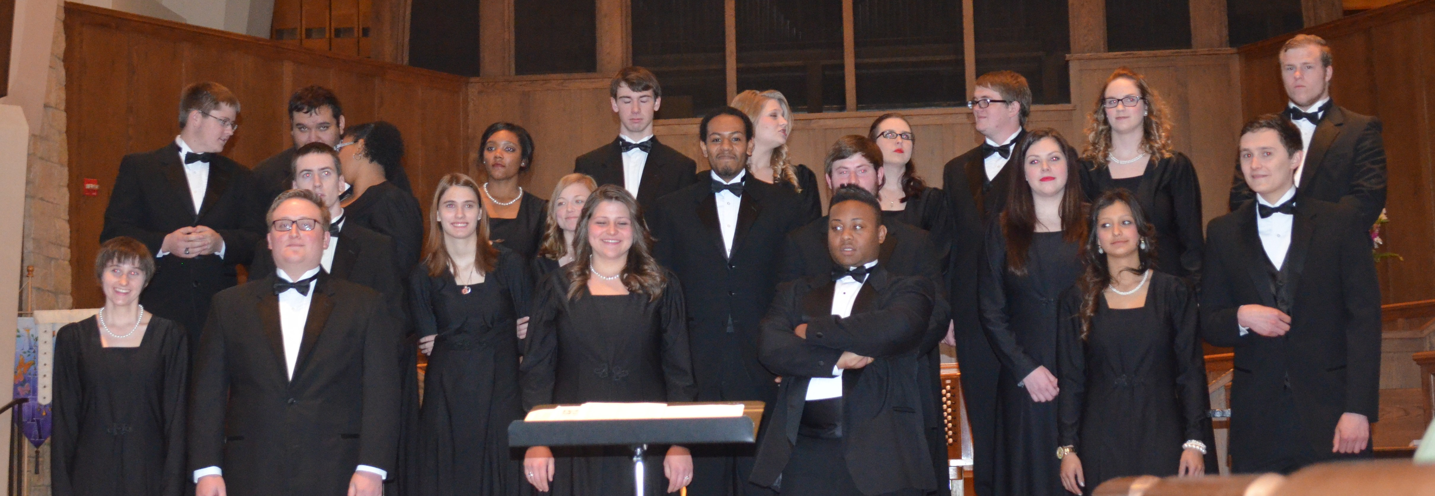 Photo by SONNET RELPH | The Ranger The AC concert choir performed April 25 at St. Andrew's Episcopal Church.