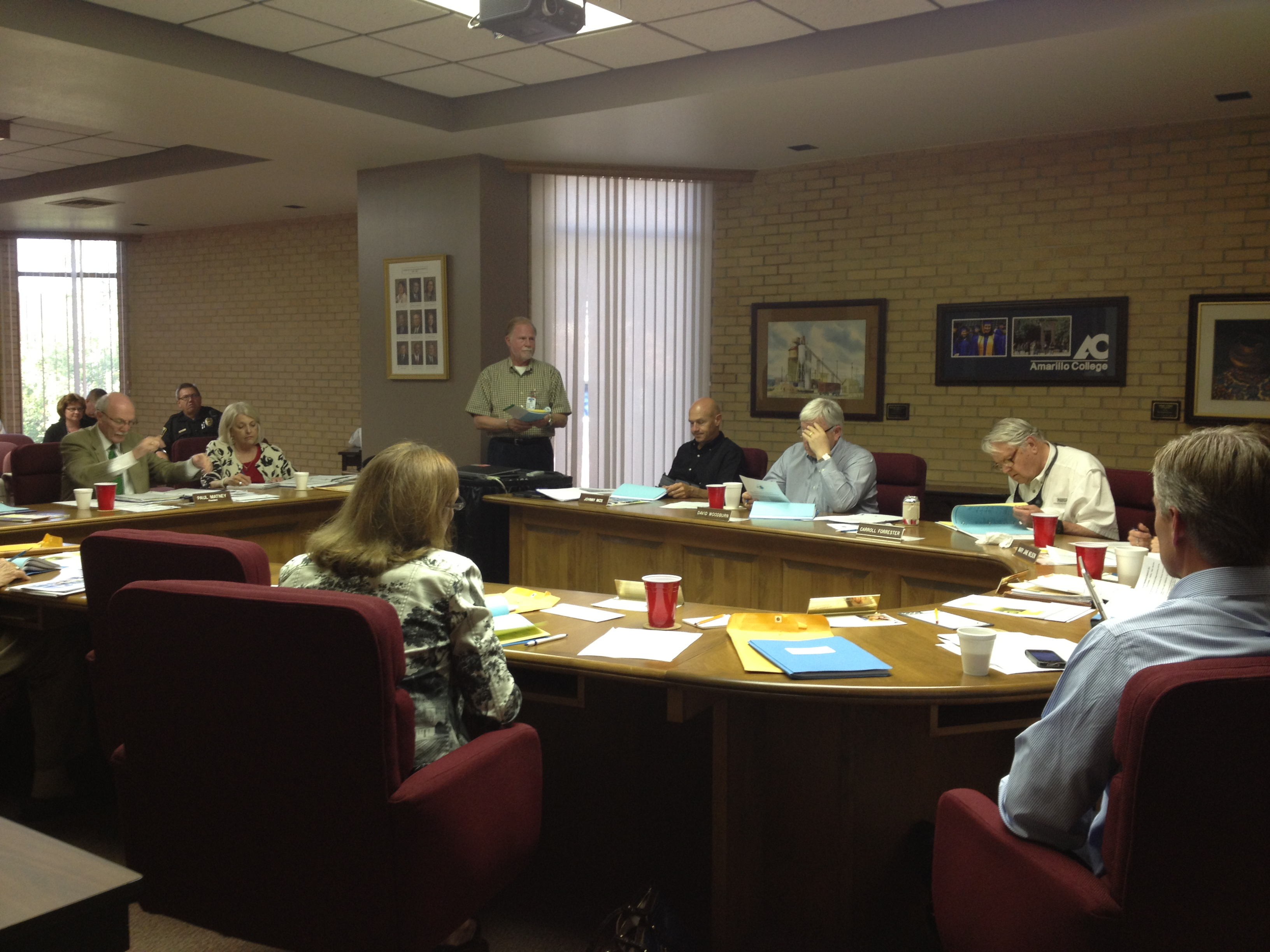 Photo by VANESSA GARCIA Opinion Editor  The board of regents approved the 2013-2014 budget Aug. 27.