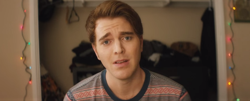 "A still form Shane Dawson's short film ""I hate Myselfie."""