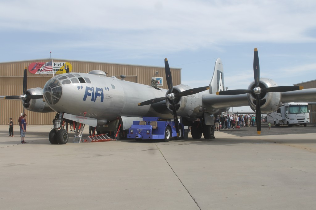 "GENTRY ANDERSON | The Ranger B-29 bomber airplane, ""FIFI"", stopped at the Texas Air and Space Museum in Amarillo and offered tours and rides."