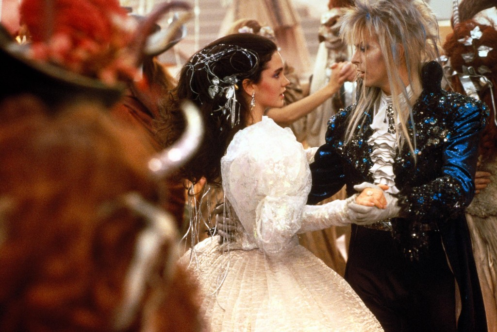 Jennifer Connelly, left, and David Bowie take viewers into a dazzling world of fantasy and adventure where everything seems possible and nothing is what it seems.