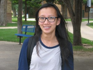"Jennie Lao, physical therapist assistant | ""I like the vending machine. It's useful."""