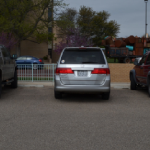Alma Bustamante | The Ranger Students make their own parking spaces since parking lines have faded entirely.