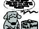 Pets for sale and a sad dog
